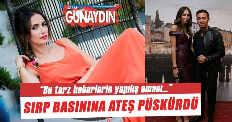 Emina Sandal Sırp basınına ateş püskürdü