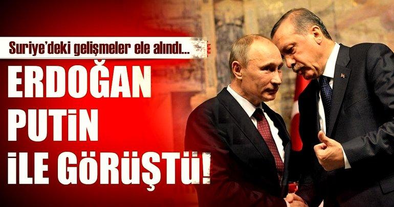 Son Dakika Haberi: Cumhurbaşkanı Erdoğan Putin ile görüştü