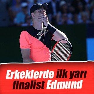Erkeklerde ilk yarı finalist Edmund