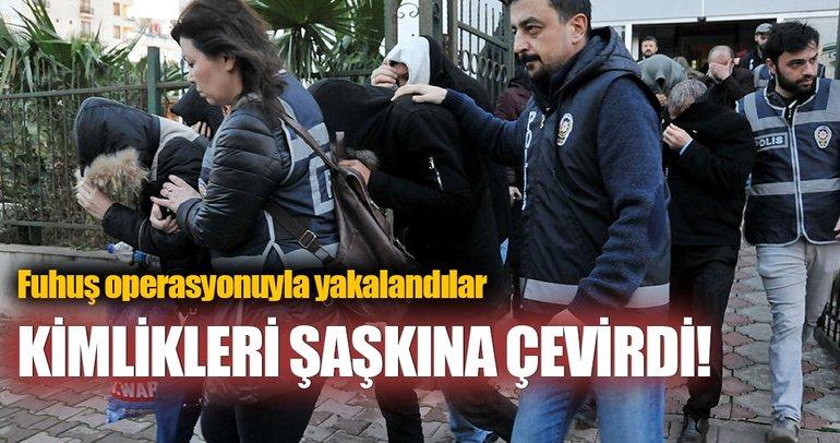 Antalya'da fuhuş operasyonu: 58 gözaltı