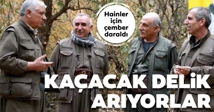 PKK elebaşları için çember daralıyor. Hainler kaçacak delik arıyor