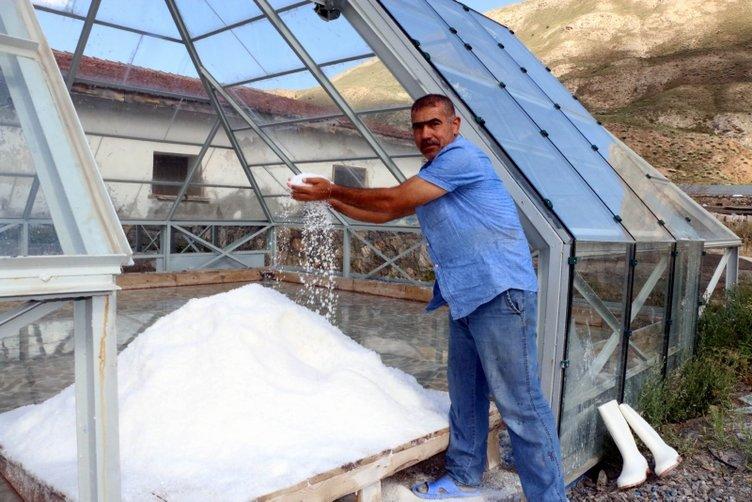 Doğu Anadolu'nun tuz ihtiyacı 450 yıllık bu ocaktan sağlanıyor