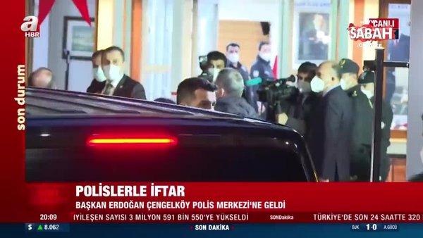 Başkan Erdoğan ve Bakan Soylu Çengelköy Polis Merkezi'nde iftara katıldı | Video