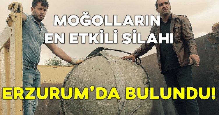 Erzurum'da tarihi mancınık gülleleri bulundu