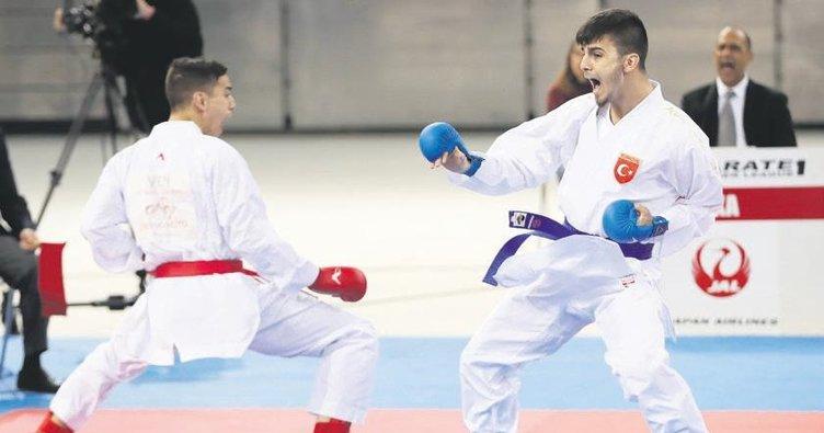 Karateciler Madrid'te madalya peşinde