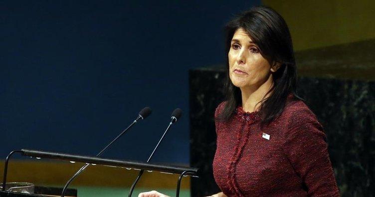 ABD'nin BM Temsilcisi Haley'den İran açıklaması