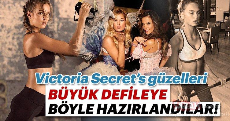 Victoria's Secret defilesi 8 Kasım'da! Bakın Victoria's Secret modelleri büyük defileye nasıl hazırlanıyor...