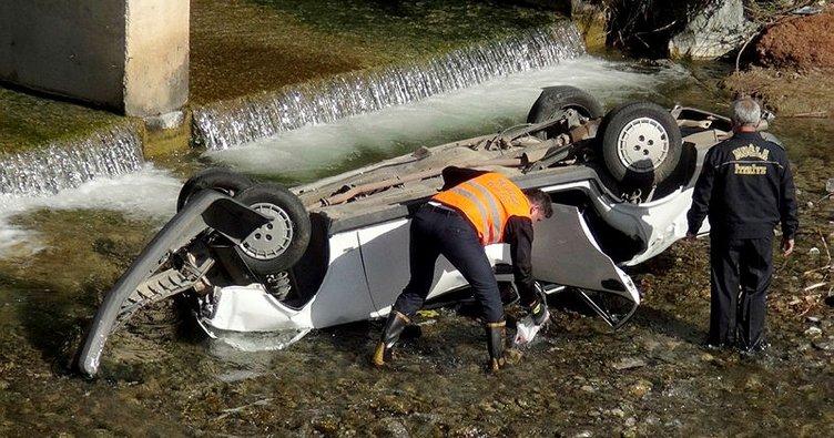 Fethiye'de otomobil dereye uçtu: 3 genç öldü