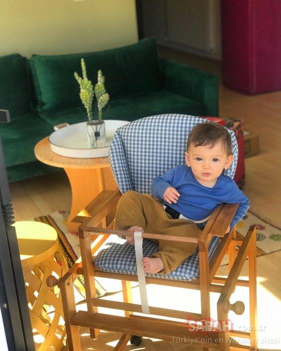 Minik Marsel'in sevimli pozu 'Maşallah' dedirtti! Cansu Tosun'un oğluyla paylaşımı kalpleri ısıttı
