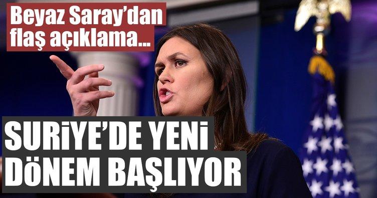 Son dakika: Beyaz Saray'dan flaş Suriye açıklaması