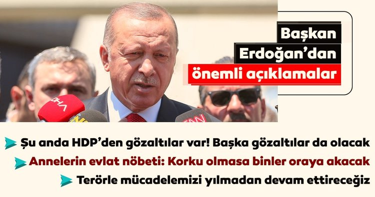 Başkan Erdoğan'dan Diyarbakır'daki alçak saldırıyla ilgili önemli açıklamalar