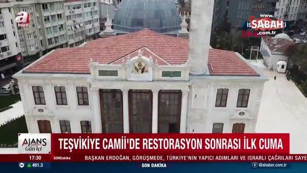 Teşvikiye Camii'de restorasyon sona erdi! Teşvikiye Camii'de restorasyon sonrası ilk cuma! | Video