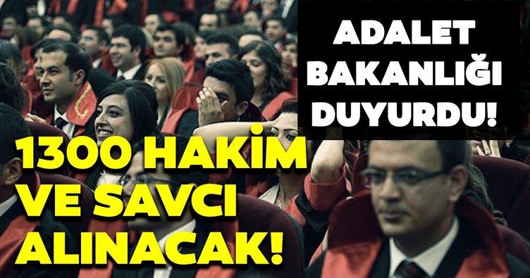 Adalet Bakanlığı duyurdu! 1.300 Hakim ve Savcı adayı alınacak! Başvuru şartları belli oldu mu?
