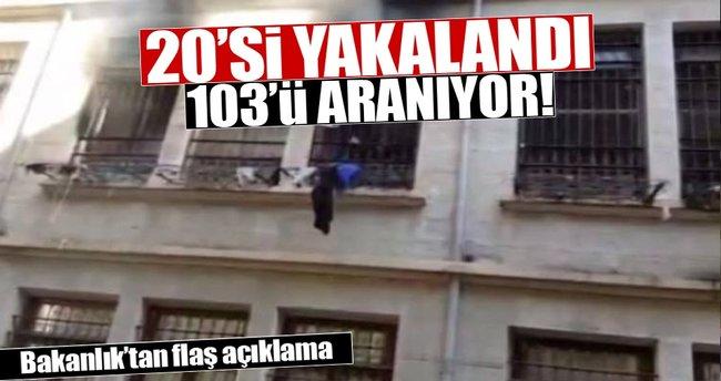 İçişleri Bakanlığı: 20'si yakalandı, 103'ü aranıyor
