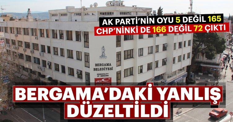 İzmir'in Bergama ilçesinde oy sayıları düzeltildi