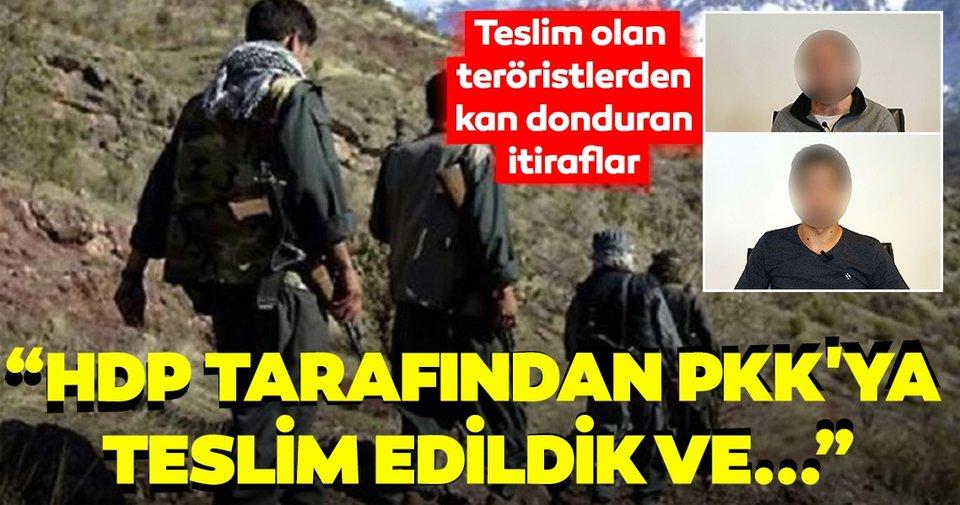 Teslim olan teröristler, HDP tarafından PKK'ya götürülmelerini anlattı ...