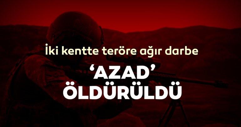 Son dakika: Diyarbakır ve Mardin'de teröre ağır darbe