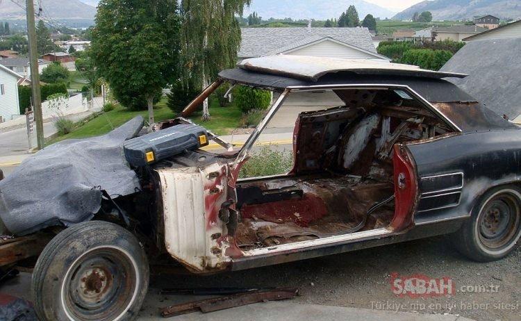 Hurda arabayı 1200 TL'ye almıştı... Şimdi otomobilin değeri dudak uçuklatıyor! Tam 8 milyon TL