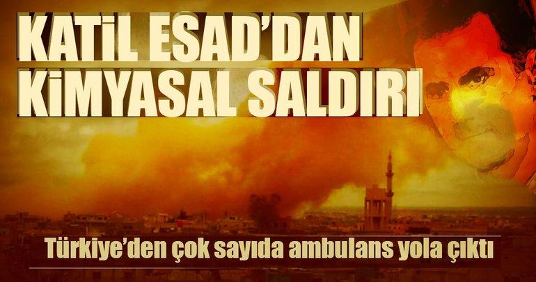 Suriye'de kimyasal hava saldırısı!