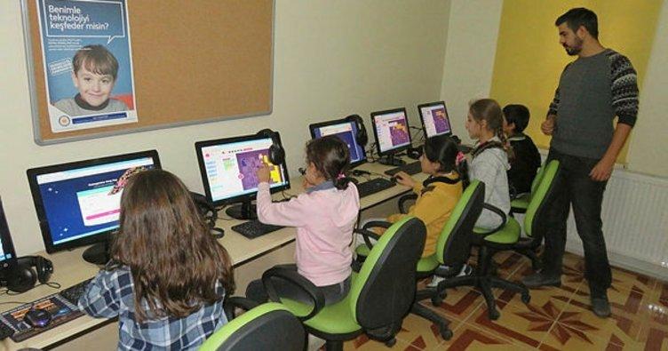 Midyatlı çocuklar kodlama öğreniyor