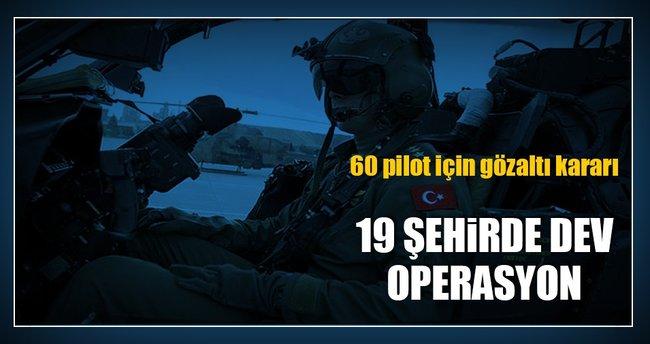 Hava Kuvvetlerinde 60 kişi hakkında FETÖ'den gözaltı kararı