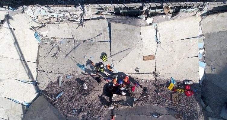 Kayseri'de Üniversite binasının çatısı çöktü! Tüm...