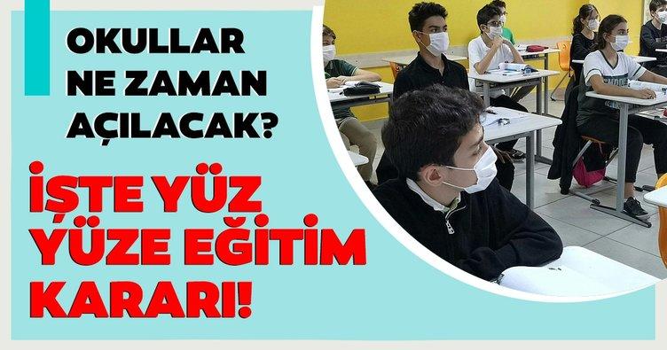 Milli Eğitim Bakanı Ziya Selçuk'tan son dakika yüz yüze eğitim ve karne kararı! Okullar ne zaman açılacak?