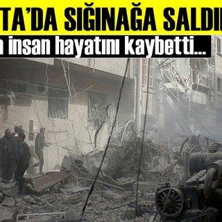Son dakika: Doğu Guta'da sığınağa bombalı saldırı
