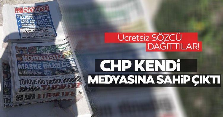 CHP kendi medyasına sahip çıktı! Ücretsiz Sözcü dağıttılar!