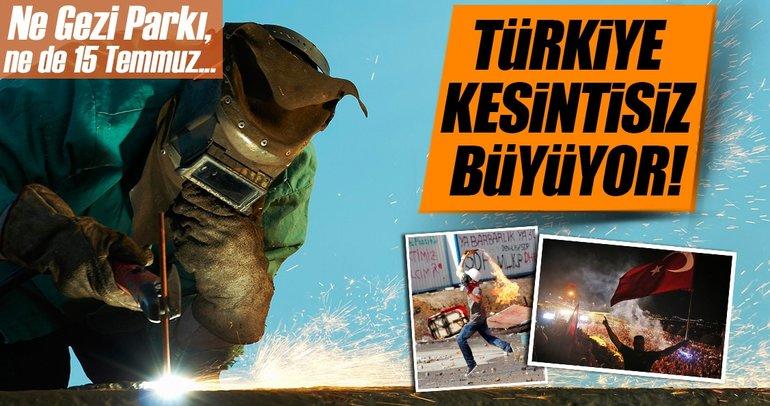 Türkiye 7 yıldır kesintisiz büyüyor
