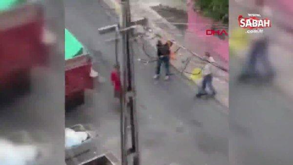 Son dakika | İstanbul Şişli'de kedi maması sebebiyle tartışan kadınların kavgası kamerada | Video