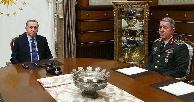 Cumhurbaşkanı Erdoğan, Genelkurmay Başkanı Akar'ı kabul etti!