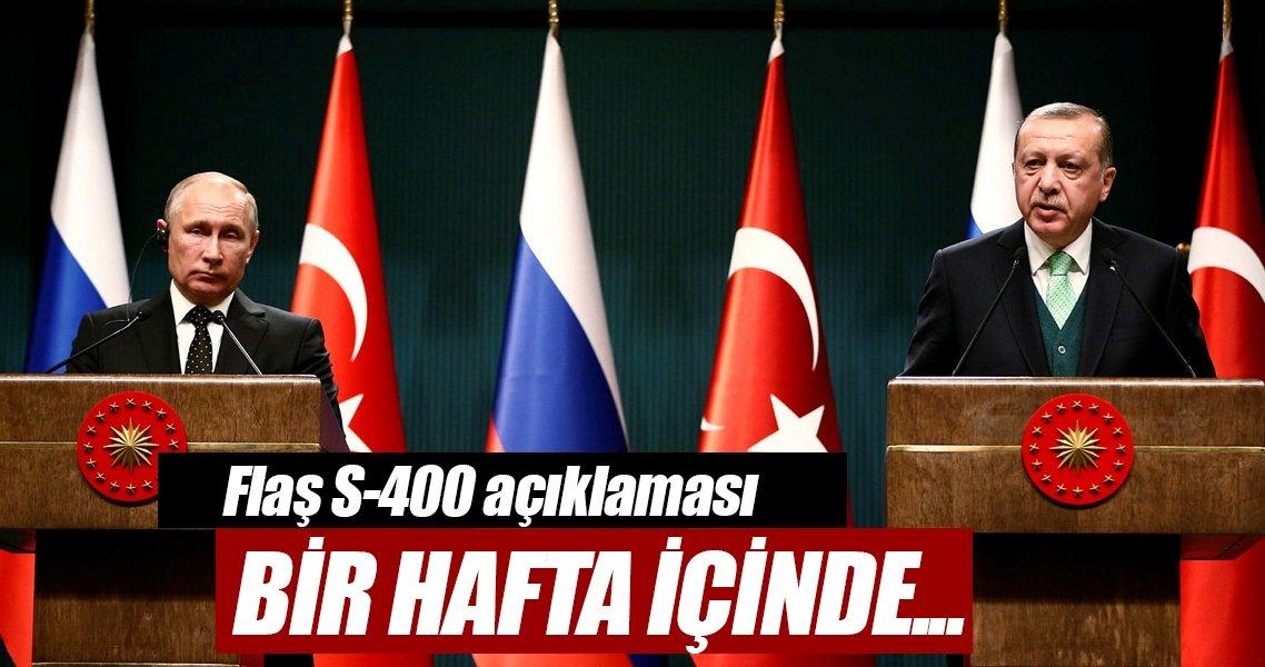 Cumhurbaşkanı Erdoğan: S-400 konusu bu hafta neticelenecek
