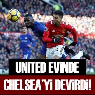 Manchester United, Chelsea'yi yendi