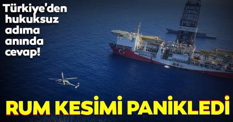 Türkiye, Doğu Akdeniz'de Rumların hukuksuz adımlarına izin vermiyor