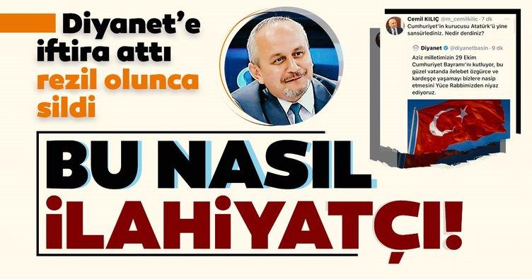 Son dakika: İlahiyatçı Yazar Cemil Kılıç Diyanet'e iftira attı! Yalanı ortaya çıkınca paylaşımını sildi