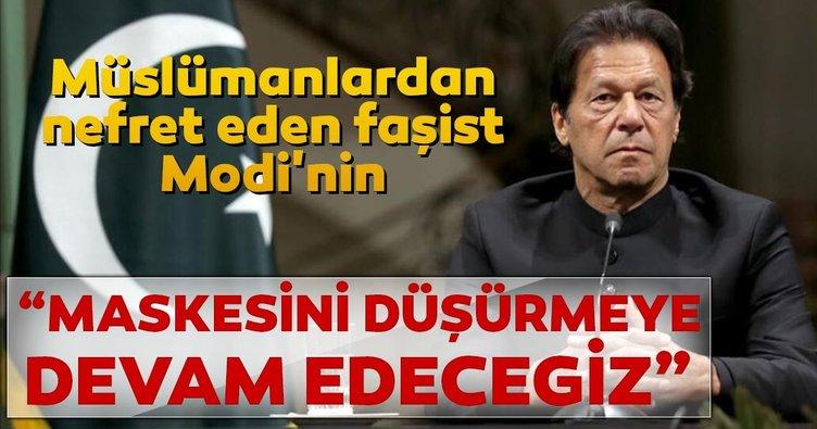 Pakistan Başbakanı İmran Han: Modi'nin maskesini düşürmeye devam edeceğiz