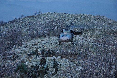 7 teröristin öldürüldüğü operasyonun görüntüleri