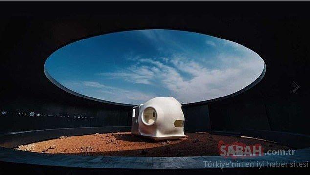 Astronotlara ev olacak Mars evleri
