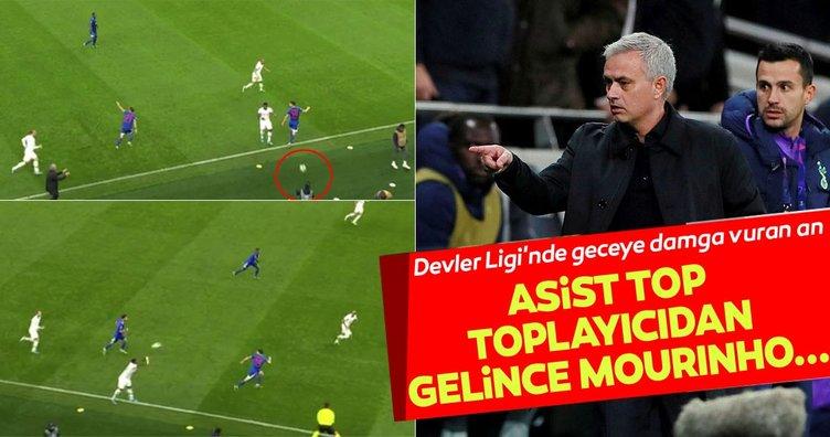 Tottenham - Olympiakos maçına Mourinho ve top toplayıcı çocuk damga vurdu!