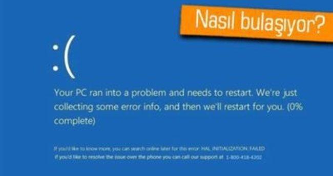 Bu Malware, Windows'ta sahte mavi ekran uyarısına sebep oluyor