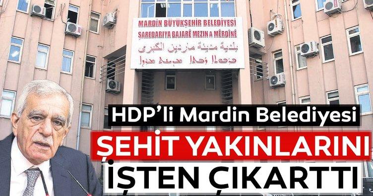 HDP'li Mardin Belediyesi şehit yakınlarını işten attı