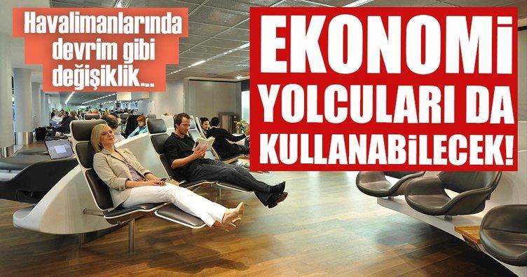 Ekonomi yolcuları da lounge'lardan yararlanabilecek
