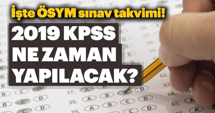 KPSS ne zaman yapılacak? ÖSYM sınav takvimi ile beraber 2019 KPSS başvuru tarihleri!