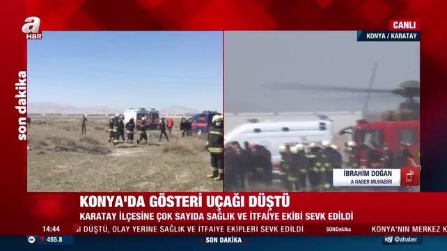 Son dakika haberleri: Konya'da askeri gösteri uçağı NF-5'in düştüğü bölgedeki çalışmalardan ilk görüntüler   CANLI YAYIN  