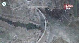 Türkiye'nin en yüksek barajının tamamlanmasına 25 metre kaldı | Video