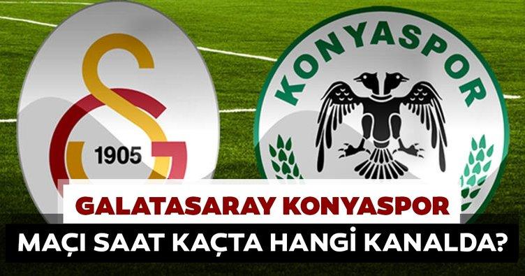 Galatasaray Konyaspor maçı saat kaçta hangi kanalda? Galatasaray seyircisinin önüne çıkıyor…