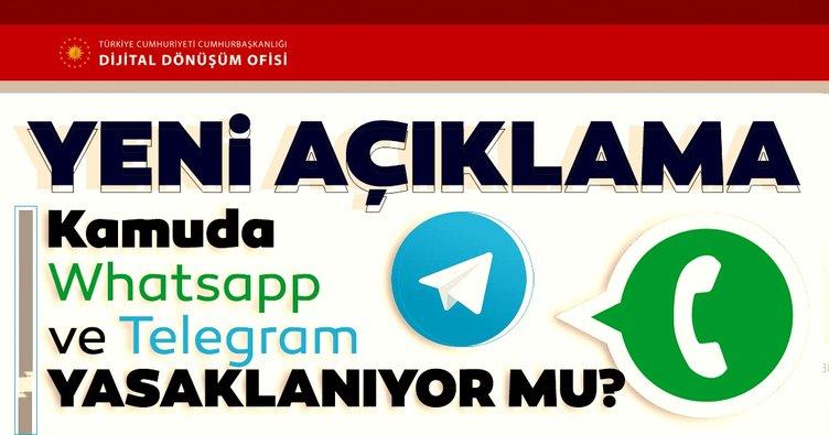 Son dakika haberi: Kamuda 'Whatsapp ve Telegram' yasaklanıyor mu? Dijital Dönüşüm Ofisinden o iddialarla ilgili açıklama