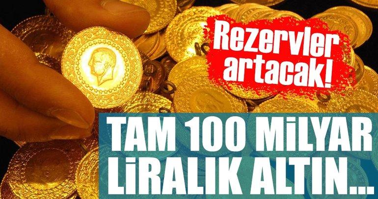 Şimşek: 100 milyar doları bulan altın stoku var