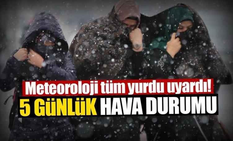 Meteoroloji'den kritik İstanbul hava durumu uyarısı bugün geldi! - İstanbul'da kar yağışı ne kadar sürecek?
